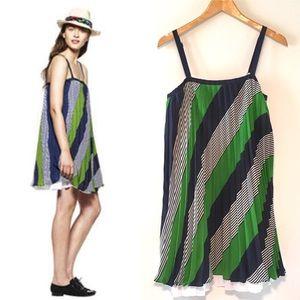Thakoon pleated stripe swingdress